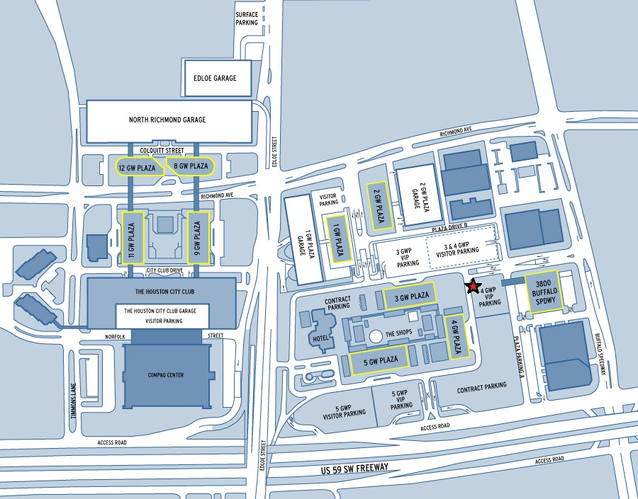 Greenway Plaza Map Labeled Carbutler